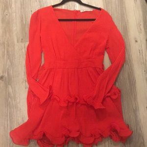 The Impeccable Pig Red dress size medium